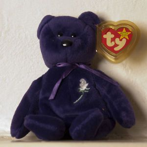 Ty Princess The Bear Beanie Baby Babies MWMT1997 Retired Ja