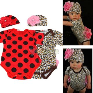 Kid Baby Girl Romper Skirt Pant One Piece Outfit Dress Costume Hat 2pcs 0 24M