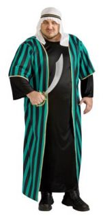 Mens Full Plus Size Arab Sheik Costume Arabian Costumes