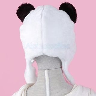Cartoon Animal Hat Cap Panda Costume Mask Fluffy Plush