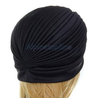 Turban Head Wrap Band Chemo Bandana Hejap Pleated Cap