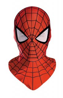 Mens Deluxe Spiderman Costume Halloween Mask Accessory