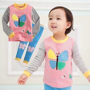 "Vaenait Baby Toddler Kids Girl Clothes Sleepwear Pajama Set ""Pink Butterfly"""