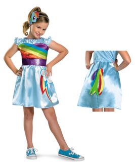 Rainbow Dash TV Classic My Little Pony Girls Costume