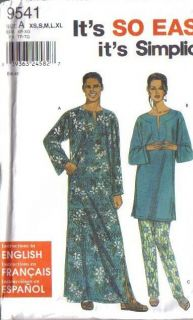 African Ethnic Costume Sewing Pattern Men Unisex Dashiki Robe Caftan Headwrap