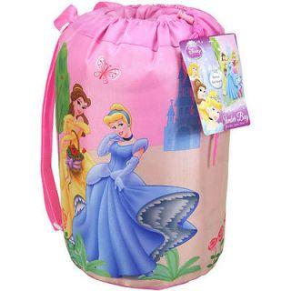 Disney Princess Cinderella Belle Aurora Kids Slumber Sleeping Bag Backpack New