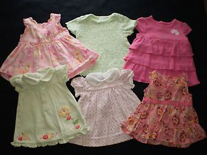 f4689f2ba97a Infant Baby Girl Newborn 0 3 Month Summer Clothes Dress Lot 6 Dresses