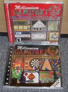 PC Computer Video Game Lot 2 Millennium Gamepak Gold Casino Black Jack Tables 671196032771