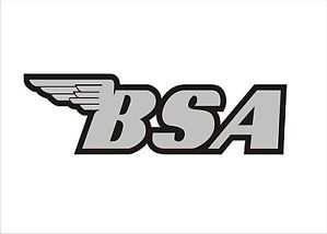 British BSA Motorcycles Emblem Logo Motorcycle Decal Sticker x1 Black Silver