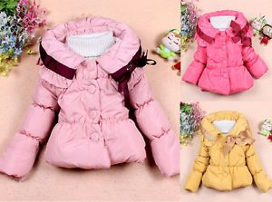 Hot Baby Girls Toddler Clothes Kids Candy Color Winter Jacket Clothing Snowsuits