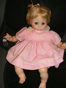 "Vintage 1971 Madame Alexander Janie Baby Doll 19"" Original Clothes"