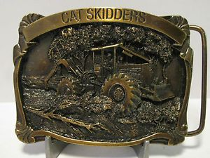 Caterpillar Cat Cable Grapple Log Logger Skidder Belt Buckle New Mint 1988