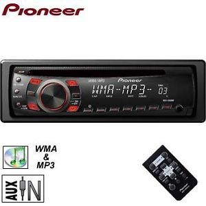 New Pioneer DEH 1300MP CD  Car Stereo Receiver Player Aux Free Aux Cable