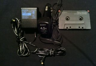 Sony Car Discman Made in Japan Accessory Lot Tape Car Home Adapter 4 CD Player