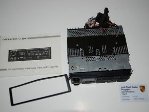 Porsche CR 1 Car Stereo Radio Cassette Player from `93 Porsche 968 w Code No