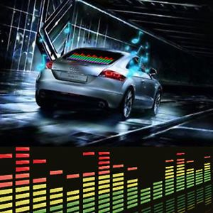 Cool Car Music Rhythm Sound Activated Equalizer Lighting Light Lamp 90x10cm D
