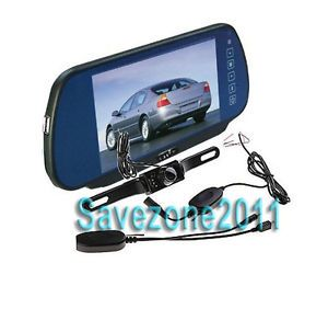"""Rearview Wireless Camera 7"""" LCD Car Mirror Monitor"""