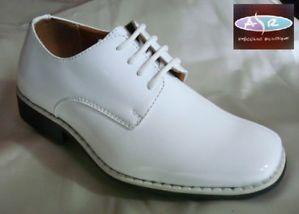 Toddler Boys Contemporary White Tuxedo Shoes Sizes 9 10 11 12 13 1 2 3 4 5