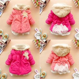 2013NEW Baby Girls Hoodies Clothes Kids Winter Warm Jacket Gown Clothing Outwear