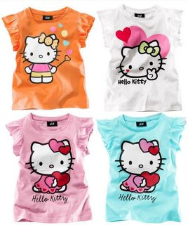 Hello Kitty Girls Clothing Baby Girls T Shirts Tops Short Sleeve Size 2T 6