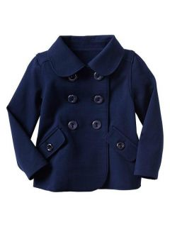 New Baby Gap Girl Double Breasted Navy Blue Coat Jacket 12 18 Months 2T