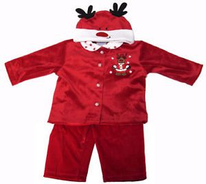 Christmas Baby Layette Set w Reindeer Hat Clothes Sale