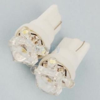 2 Pcs White 5 LED Wedge Base Car Turn Signal Light Bulb 168 194 192