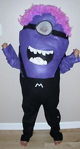 Evil Minion Costume Despicable Me Kid Child Size Homemade 4T Up to 10 New