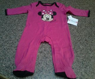 Baby Girls Size 6 9 Months Disney Minnie Mouse Sleeper New with Tags