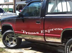"1988 1998 Chevy GMC C K Pickup Regular Cab Short Bed Rocker Panel Trim 10P 6 25"""