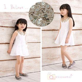 White Kids Girls Baby Princess Elegant Dress Party Wedding Pageant Lace 5 6 Year
