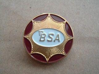 BSA Motorcycle Emblem Pin Badge Goldstar Spitfire Bantam RGS British Classic G