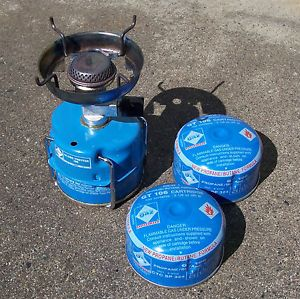 Camping GAZ Intl Globetrotter Backpacking Stove Plus Two GT 106 Fuel Cartridges