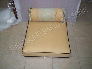 Frontgate Outdoor Cassara Sofa LOVESEAT Cushions SUNBRELLA Saphire Blue 56x28