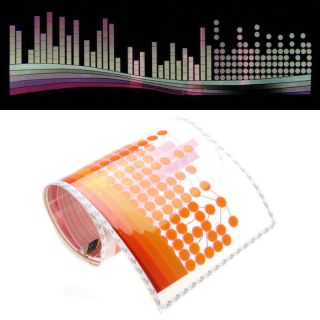 Music Voice Activated Colourful Car Sticker Equalizer LED Flash Light 90x25cm