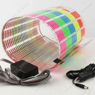 Auto Sticker Music Rhythm LED Flash Light Lamp Sound Activated Equalizer 90 25cm