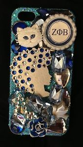 Zeta PHI Beta iPhone 5 Rhinestone Bling Sorority Cell Phone Case