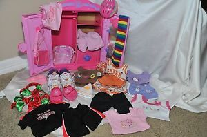 A Wonderful Lot of Girl Build A Bear Clothes Shoes Accessories and Closet