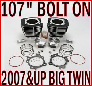 "107"" Bolt on Big Bore Pistons Jugs Engine Motor Kit Harley Twin Cam Big Twin"