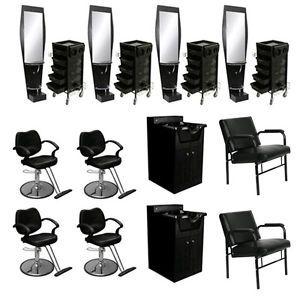 Beauty Salon Equipment Styling Chair Station Trolley Shampoo Cabinet Bowl DP 40