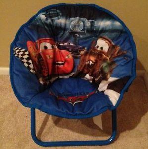 Disney Pixar Cars Mini Children's Kid's Saucer Lounge Folding Chair