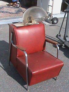 Vintage Hair Dryer Salon Chair Realistic Siesta Jet Air Dry