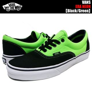 Era Neon Black Green Vans Shoes Classics Childrens Size 3 5 Fits A Woman's 7