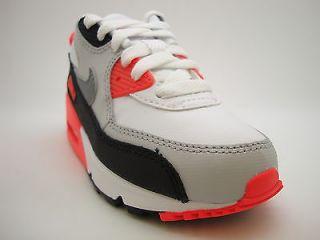 307794 137 Pre School Little Kids Nike Air Max 90 White Clay Grey Infrared