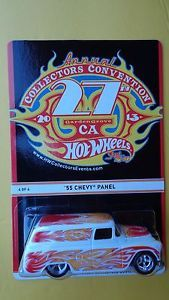 Hot Wheels CA 27th Convention 2013 Final Car 55 Chevy Panel Real Rider Tires