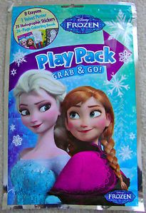 Disney Frozen Play Pack w Stickers Coloring Book Crayons and Velvet Poster