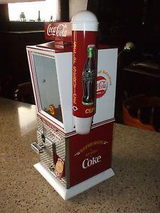Coca Cola Theme Vending Machine Candy Nut Gum Cup Dispenser Optional Stand