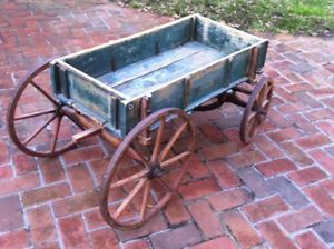 Antique Wooden Children's Toy Wagon