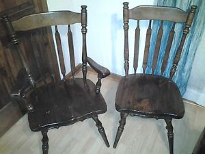 Ethan Allen Dining Arm Chair Side Chair 12 6011 Old Tavern Solid Pine Set of 2