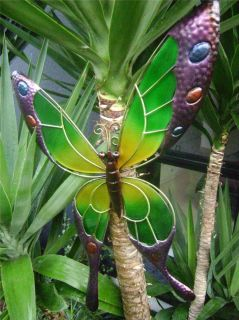 Butterfly Wall Art Metal and Glass 62cm Bright Multi Coloured Butterfly Decor